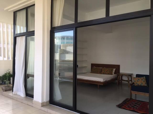Exterior studio balcony
