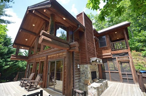 Watershed Resort - cabin #2, 2 bedroom log home