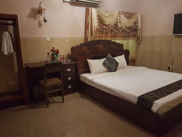 Phnom penh hotel room with desk