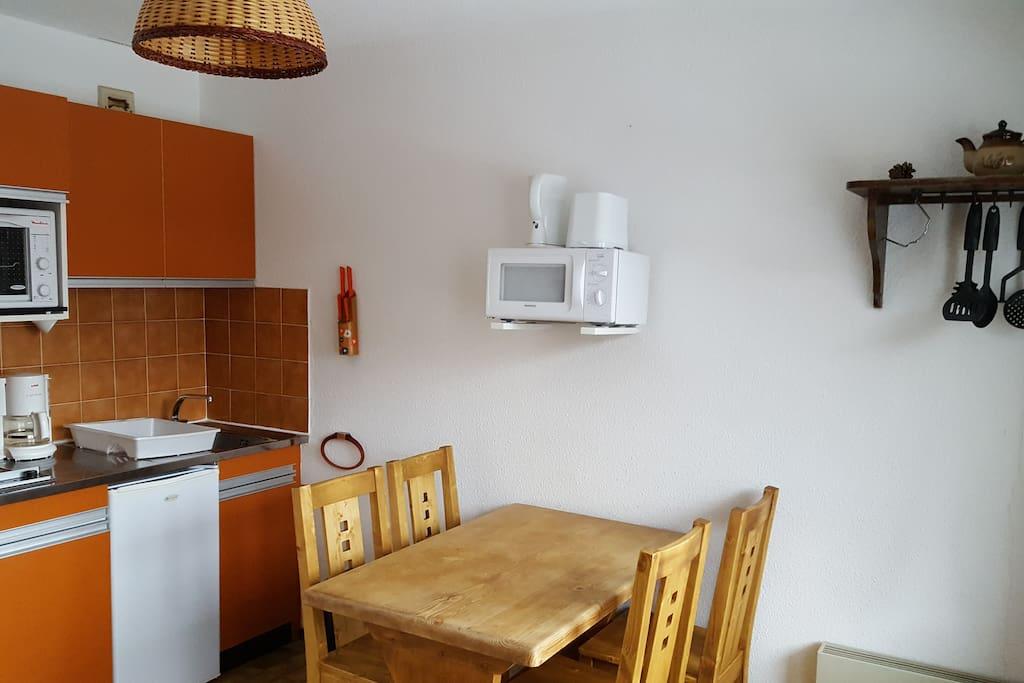 Partie cuisine de la pièce principale