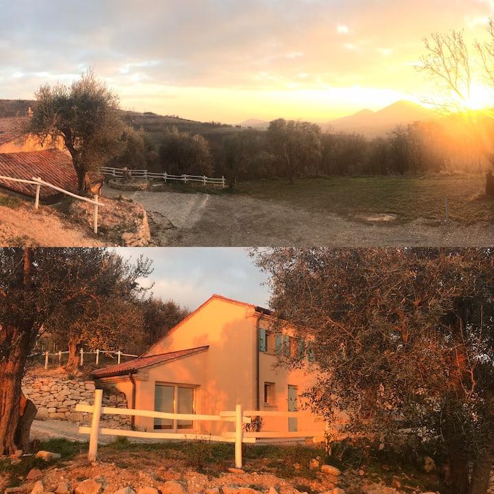 Casa in collina in ambiente naturale