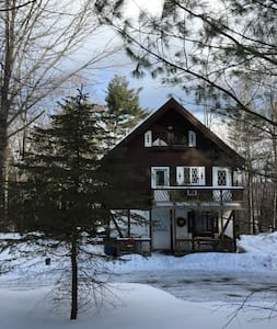 Pete and Adam's bad-ass 70's ski chalet. - Ludlow