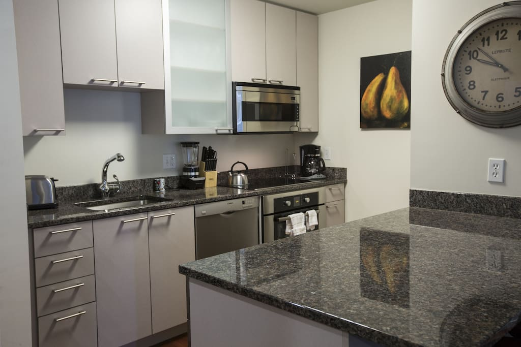 Kitchen at The Avenir by Stay Alfred