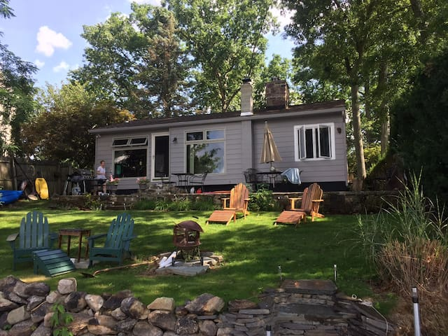 Lake Front retreat 1 hour from Midtown NYC - Wharton - Talo