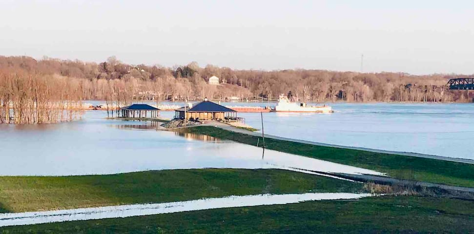 RiverSide Barn Suite on the Mississippi River.