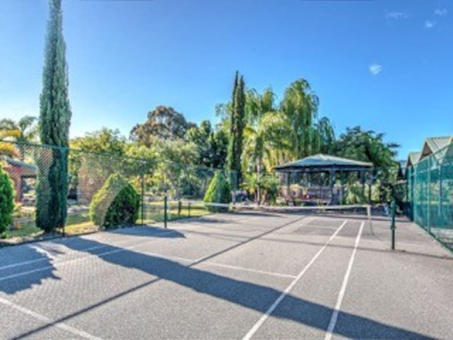 Half size tennis court