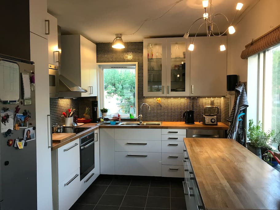 Recently renovated, modern kitchen.