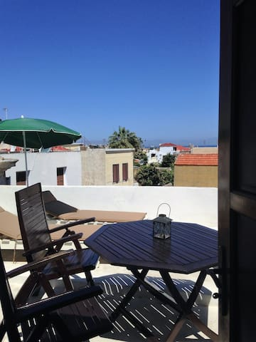 roof top terrace,view,city centre - Rhodes - Maison