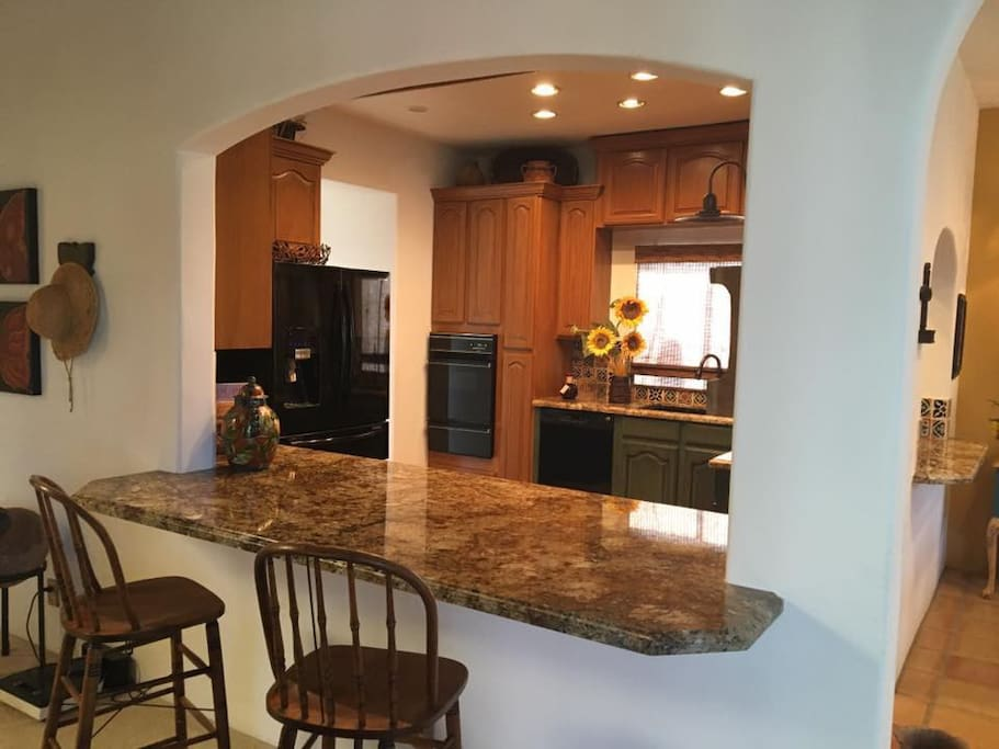 Granite Island Bar in Kitchen