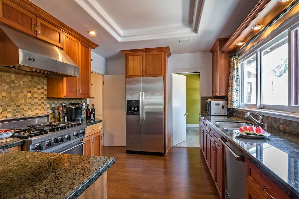 Another view of the bright and well designed kitchen
