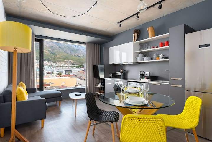 Urban & edgy studio apartment with views