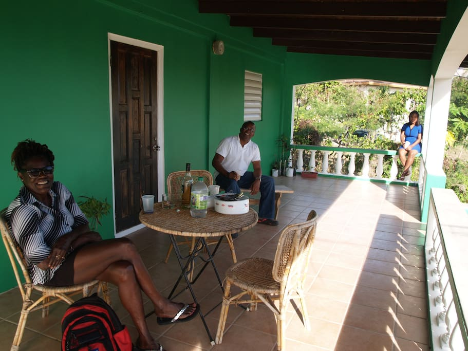 Drinks on the spacious veranda