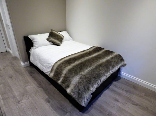 Comfortable double beds with orthopaedic mattresses, Egyptian cotton bedding for that peaceful night sleep.