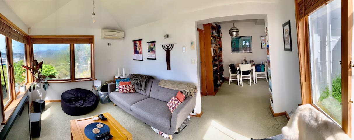 Funky flat with sea views