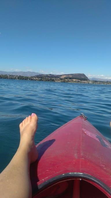 Lazy day on lake wanaka