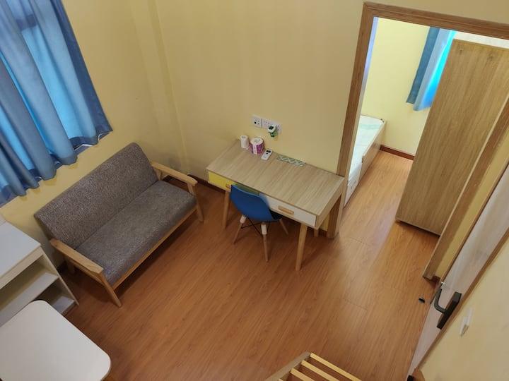 机场日式2房1厅,后瑞地铁站五百米,24小时自助入住