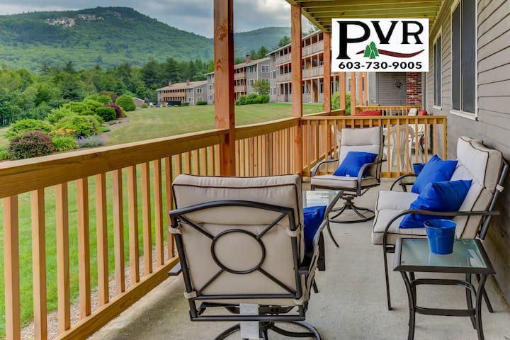 2BR Condo 1 Min to N.Conway Village! Pool, Tennis, Grill, AC, WiFi! - 3 Northface