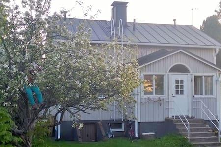 Puutaloalueella  sijaitseva pienomakotitalo - House