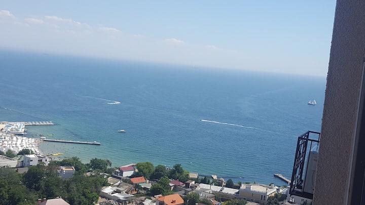 Arkadia С шикарным видом на Море!3 мин.к пляжу.