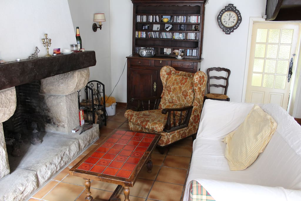 Salon avec la cheminée