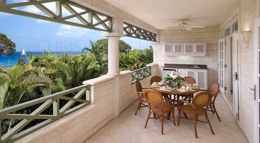 Summerland Villas 103, 3 bdrm oceanview, Barbados