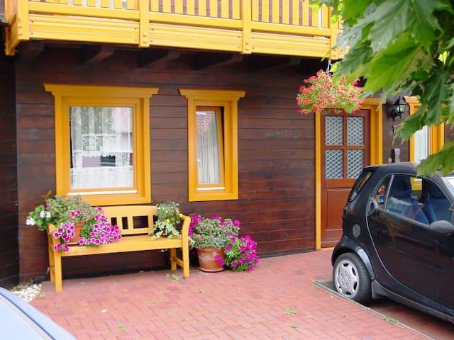 Schöne Ferienwohnung in einem gemütlichen Holzhaus
