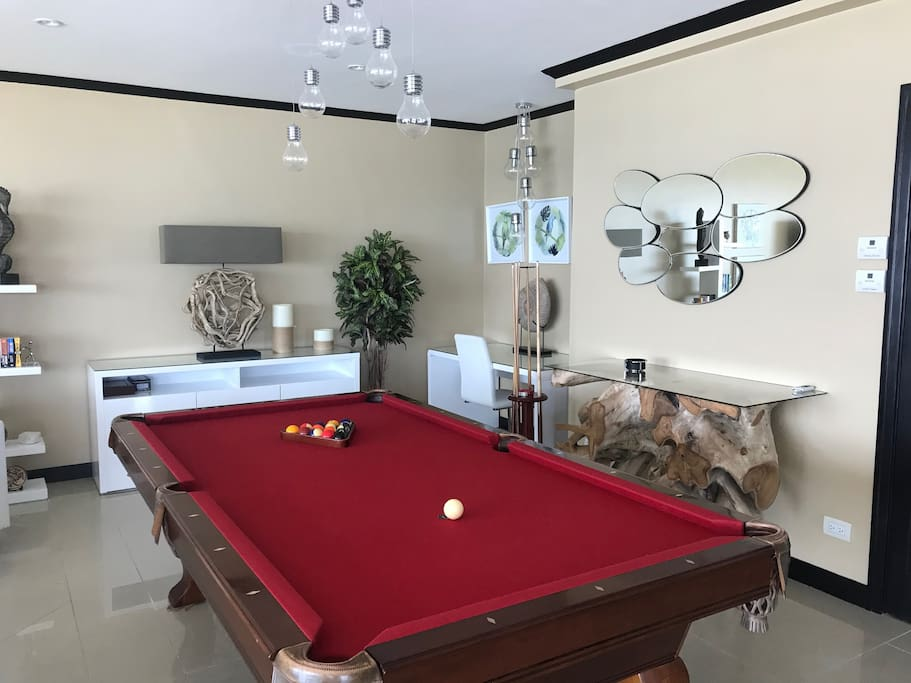 Pool table with Italian slate.