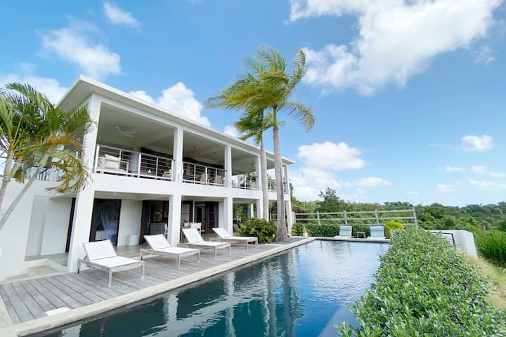 Vieques ocean view eco villa+pool