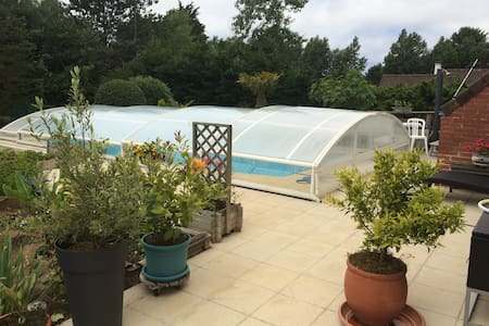 Villa Hardelot, plage, 8 pers, piscine, sauna - Neufchâtel-Hardelot - Villa