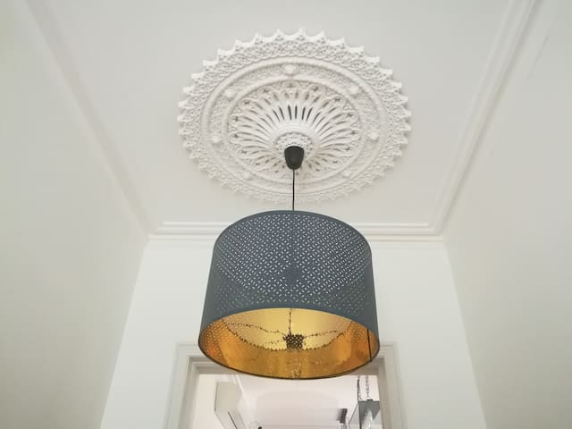 Victorian design throughout, with authentic cornices and ceiling roses.