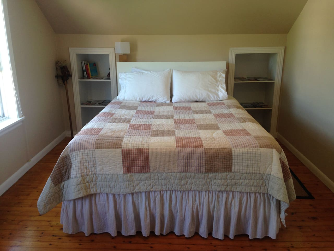 Your room features a comfortable queen bed we purchased just for AirBnB guests, so you can have a great night's sleep.