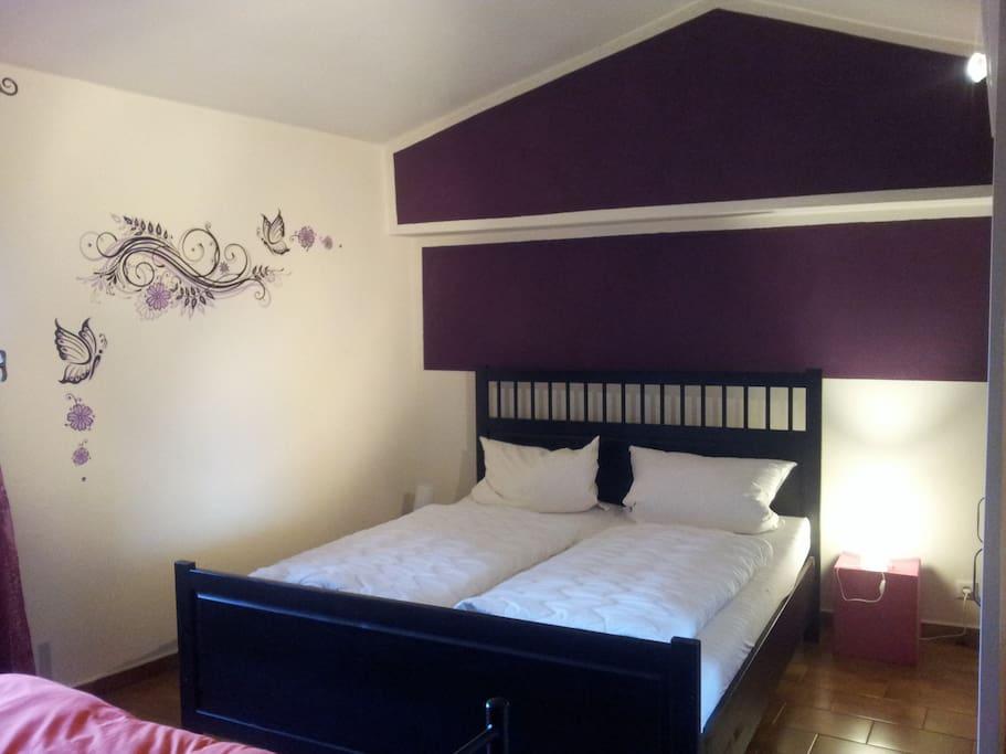Schlafzimmer mit weiterem Einzelbett (Couch)
