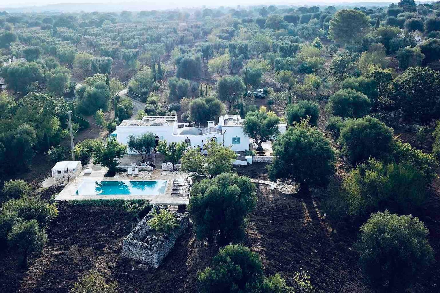 Our house is in the middle of olive trees just outside the beautiful town on Ceglie. Great place to relax with friends and family. Hang by the pool or cook a great meal in the outside kitchen. Very private, yet close to restaurants and Ceglie town.