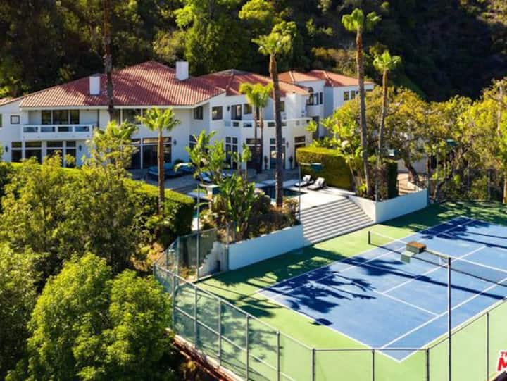Gated Anzio Estate W Tennis Court, Gym, Theater