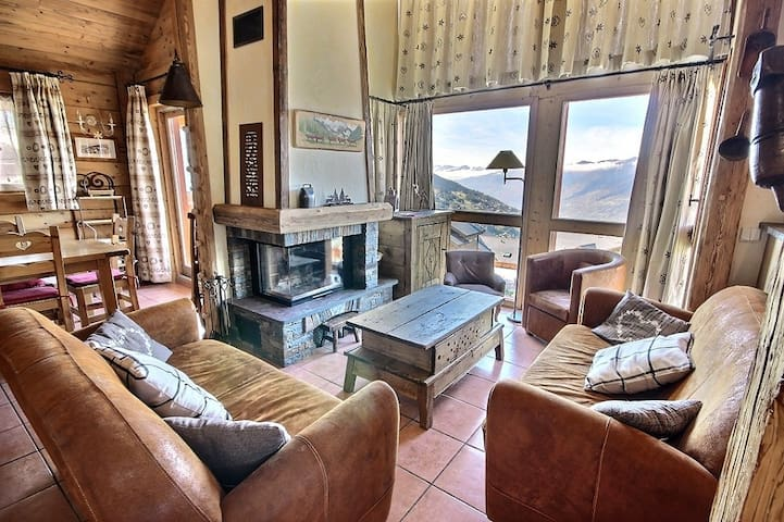 GYPAETE - Beautiful Chalet for 8 personnes in Vallandry situated in a queit neighbourhood