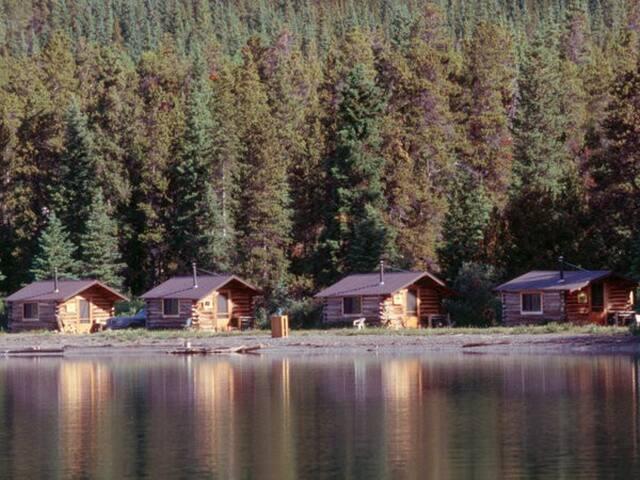 Rustic Log Cabin #3 at Chaunigan Lake Lodge