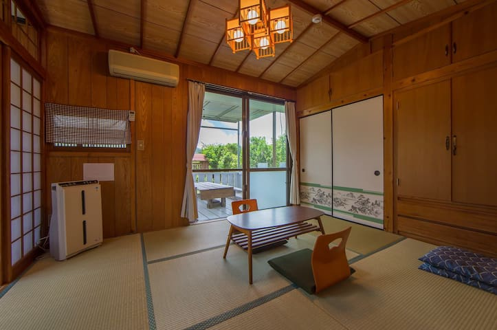 Private Tatami room with mini Terrace max4 BBQok! - Nakijin  - Casa
