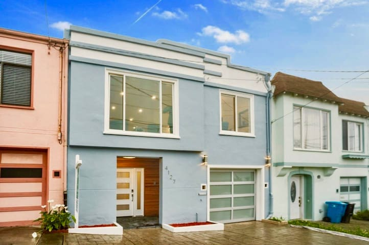 House front - This is a classic 2 story Outer Sunset home with a modern reimagination