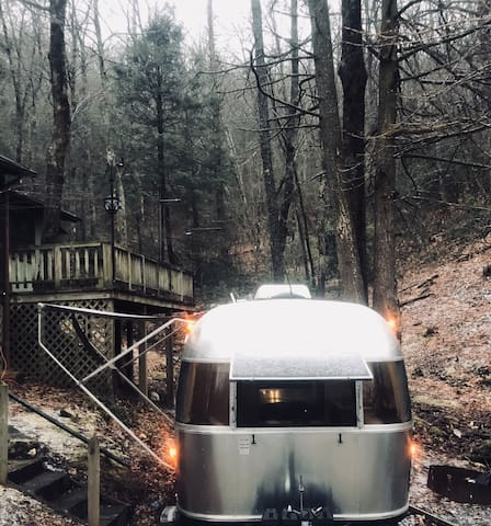 Airstream bed and breakfast tree home
