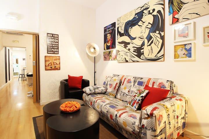 Céntrico Apartamento Estilo Pop-Art