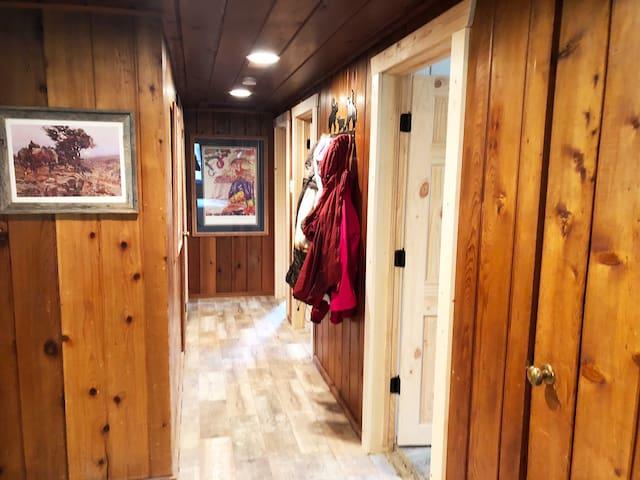 Hallway leading to Bedrooms #3-5