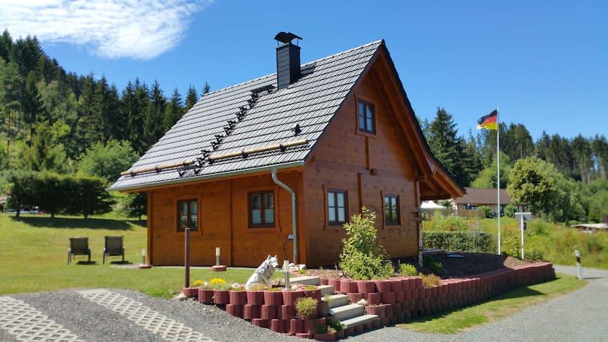 """Ferienhaus  """"Wolfs-Revier"""" Drognitz"""