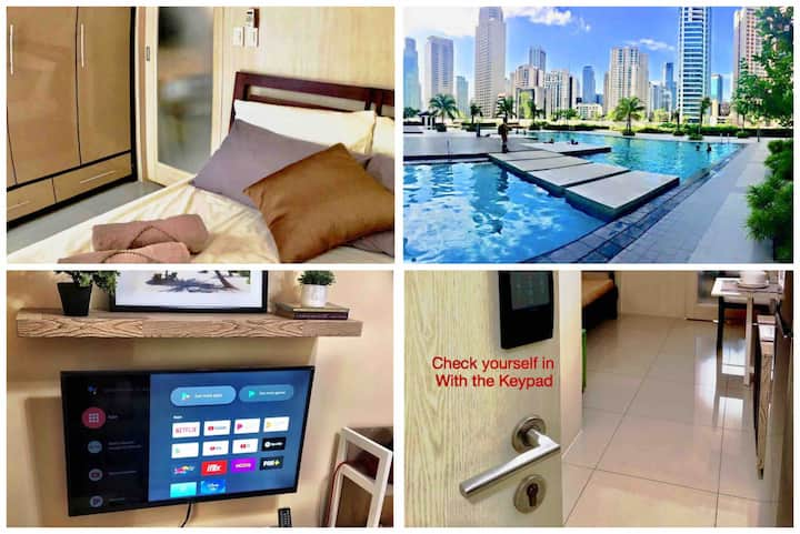 ♡Great Location♡Makati♡KeyLess♡Wifi/Netflix#⓶