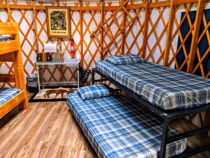 Camp in a Yurt in the Rockies near Idaho Springs