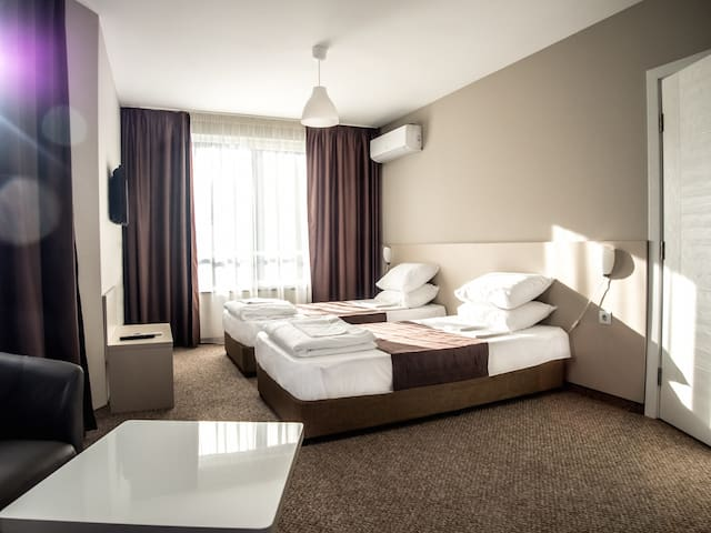 Apartment with king size and two single beds