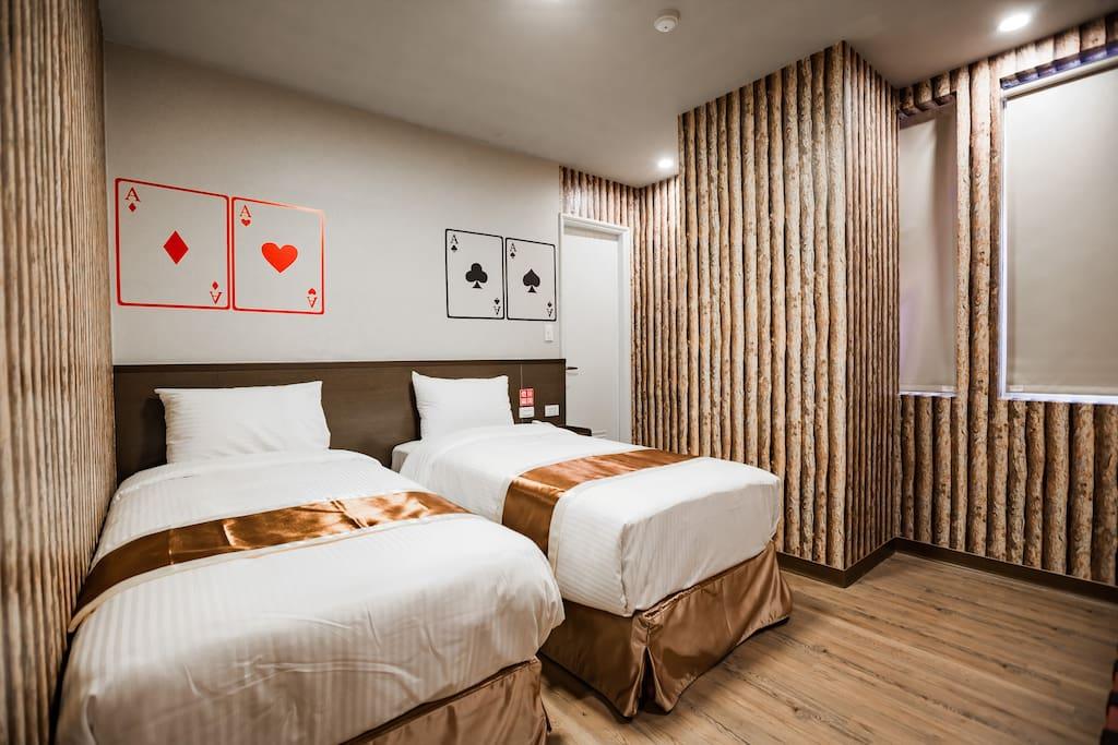 豪華雙床房Standard Twin Room
