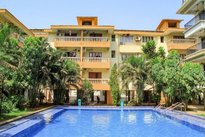2 BHK Superior Apartment - 3 Pool Baga Beach