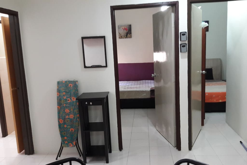 3Rooms with double bed