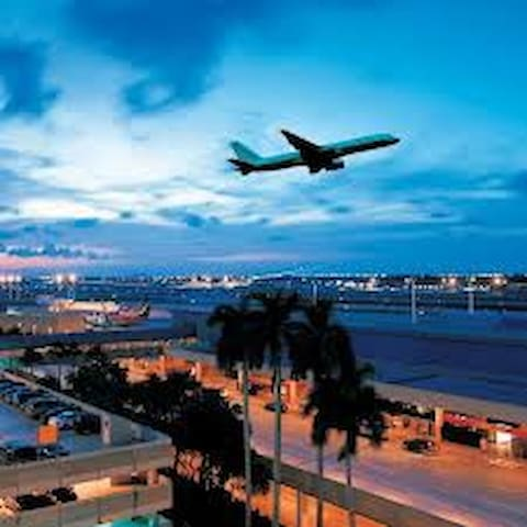 TO Home: Fort Lauderdale-Hollywood  International Airport is 15 min 7.9 mi  Miami International Airport 46 min or 35 mi  Palm Beach International Airport 44 min or 42 mi  Orlando International Airport Disney World 2 hr 38 min drive from home 170 mi