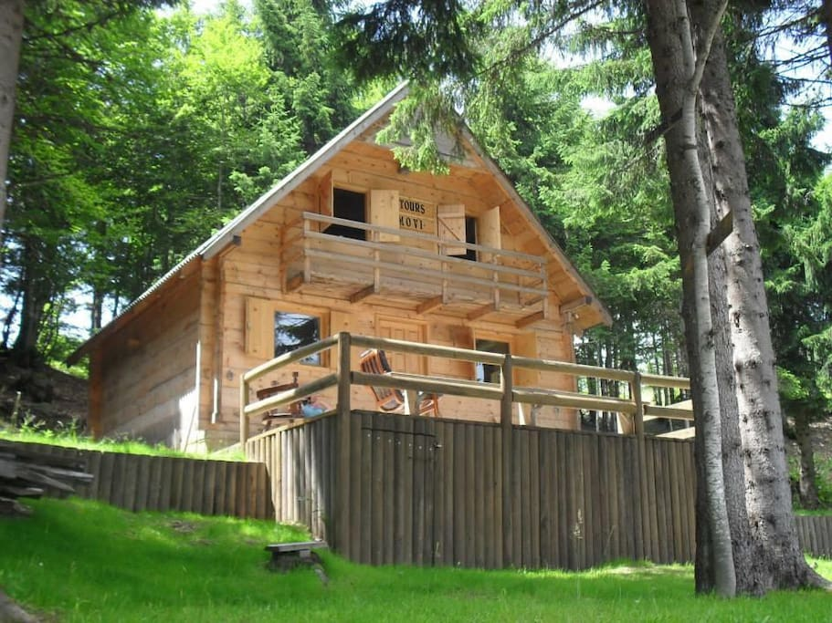 Cabin from the outside